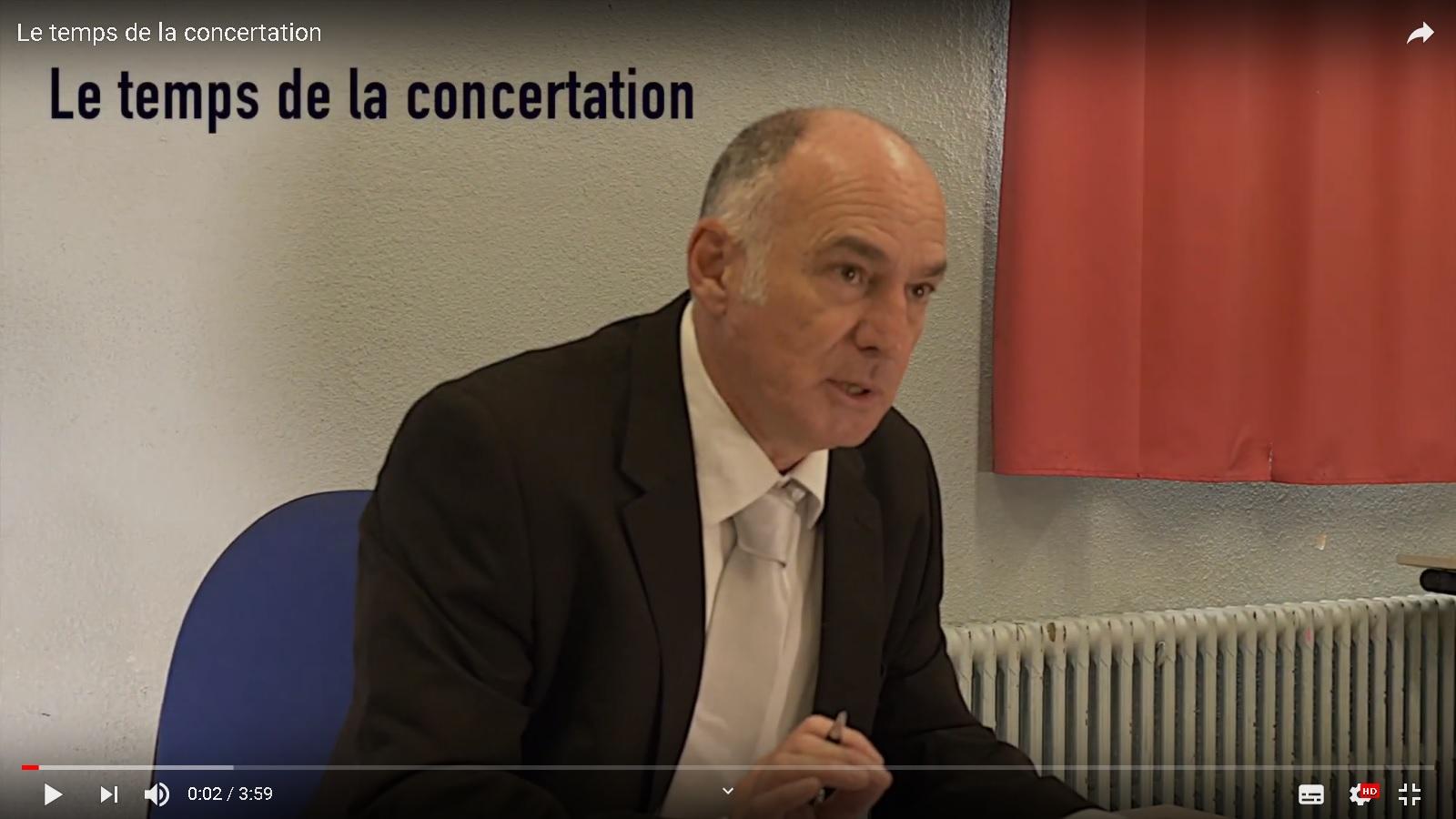 Michel sidobre le temps de la concertation 2
